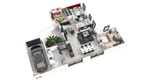 plan de chambre 3d plan maison moderne 3d 4 chambres