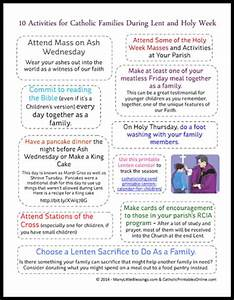 10 Lent and Holy Week Activities for Catholic Families ...