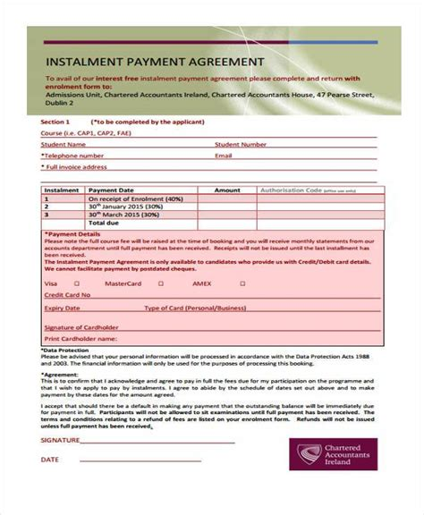 irs payment installment agreement form 8 installment agreement sle forms free sle