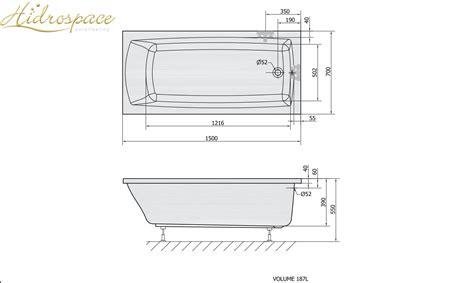 vasca da bagno 150 pratika 120 130 140 150 x70 vasca da bagno rettangolare