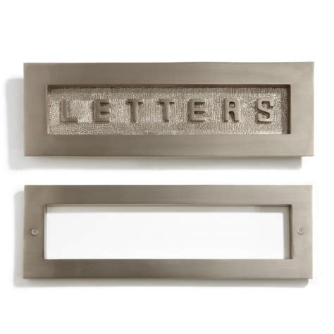 door mail slot contemporary solid brass quot letters quot mail slot outdoor 3429