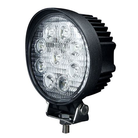 atv off road lights 2x 27w 4 inch round spot led work light offroad boat 4x4