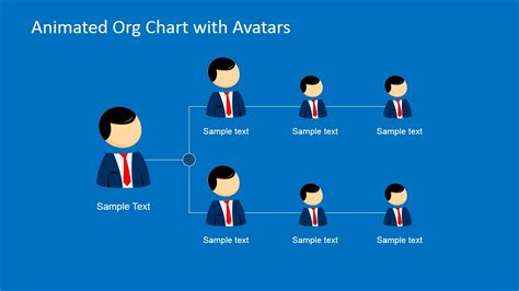 animated org chart powerpoint template slidemodel