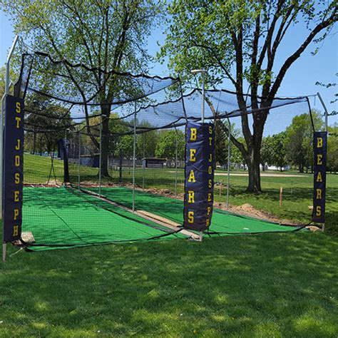 Deck Batting Cages Baton by Commercial Batting Cage Systems Outdoor Batting Cages