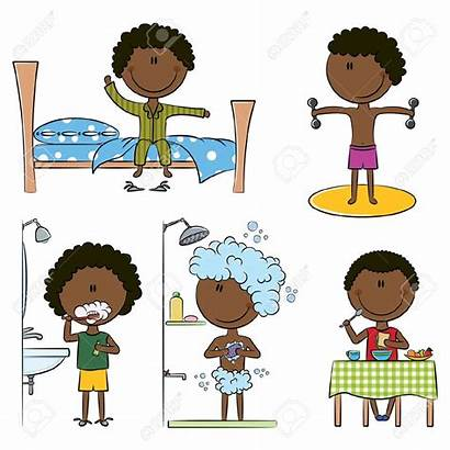 Wake Clipart Morning African American Daily Boys