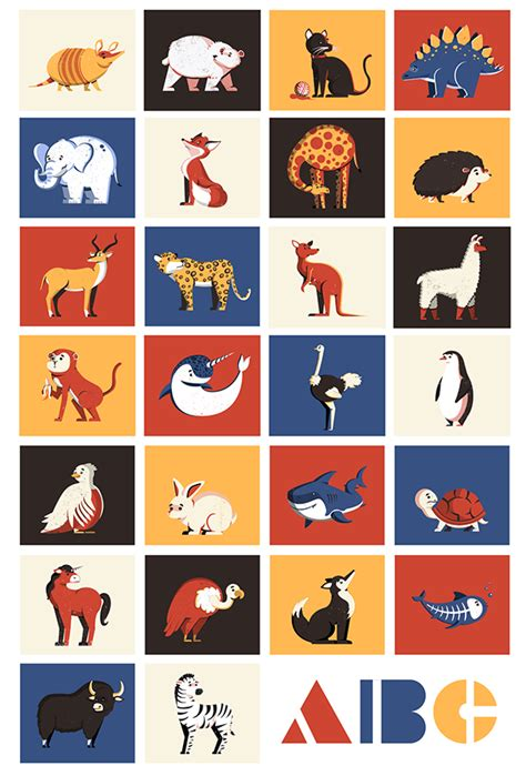 abc illustrated animal alphabet  student show