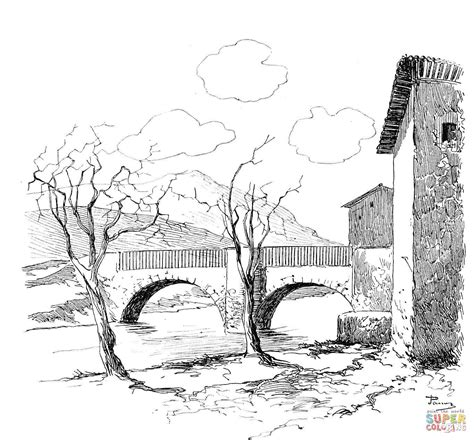 Kleurplaat Bevrijding by Bridge Coloring Page Free Printable Coloring Pages