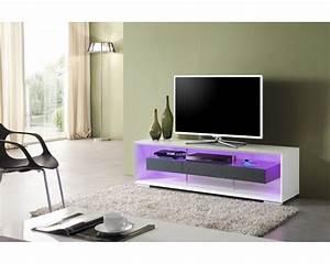 Meuble Tv Led Noir : meuble tele design blanc royal sofa id e de canap et meuble maison ~ Teatrodelosmanantiales.com Idées de Décoration