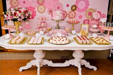 pink dessert table party ideas idee deco anniversaire