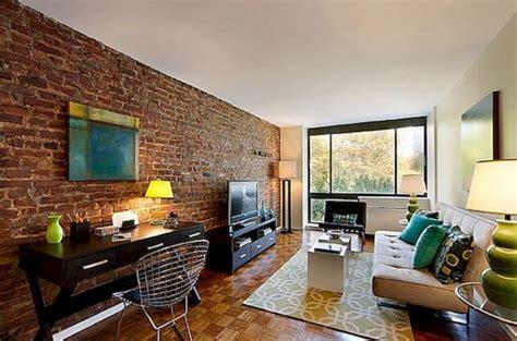 marvelous living room design  brick wall ideas