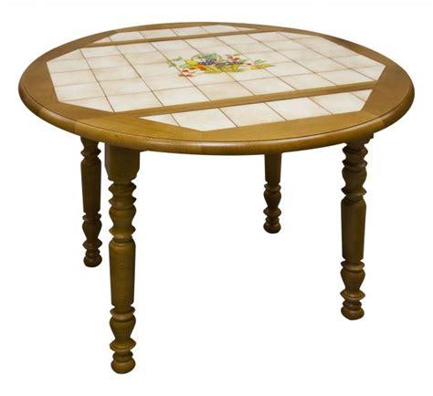 tables de cuisine rondes table ronde carrelée à volets