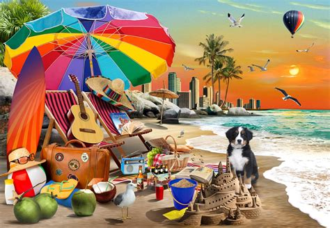 Beach Time 1000 Piece Funbox Jigsaw Puzzle | Puzzle Palace ...