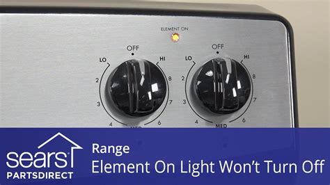 range surface heating element light won t turn