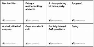 1000 images about printable board games on pinterest With cards against humanity template