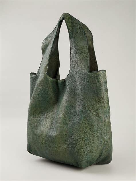 lyst numero  charleston leather shoulder bag  green