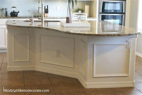 kitchen island molding kitchen makeover 1 4 island molding because i like to
