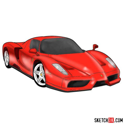 How To Draw A Enzo by How To Draw Enzo Step By Step Drawing Tutorials