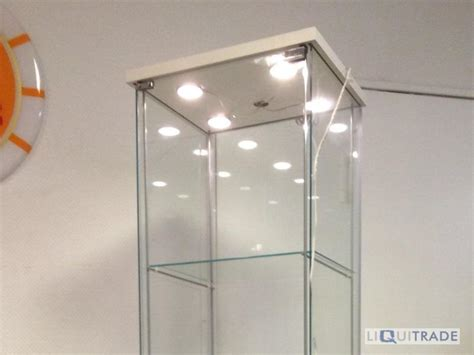 ikea küche beleuchtung ikea vitrine detolf mit led beleuchtung 43 x 163 cm ebay