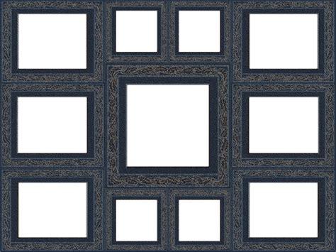 collage photo frame design png