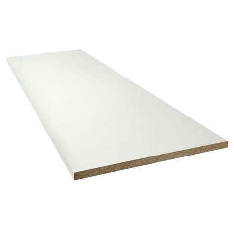 laminate boards shop thermally fused laminate 0 75 in d x 48 in l x 23 75 in w white shelf board at lowes com