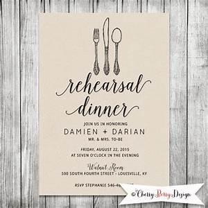 Wedding rehearsal invite dinner invitation modern kraft for When to send wedding rehearsal invitations