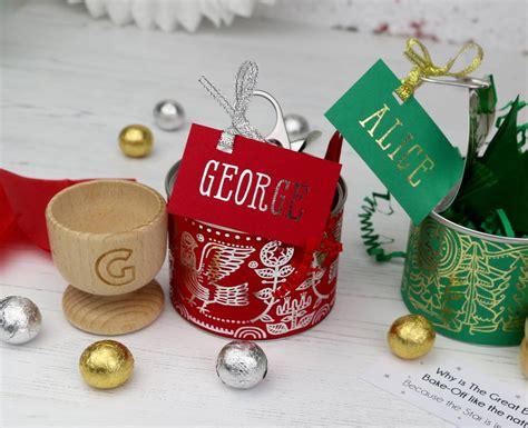 alternative red scandi design christmas cracker tin by