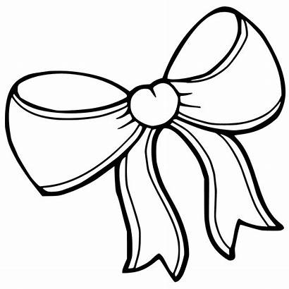 Bow Drawing Coloring Bows Ribbon Pages Template