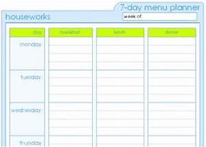 dinner menu template for home - menu planner templates smarterfitter