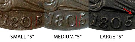 1805 Draped Bust Half Cents Small 5  Stems Early Copper