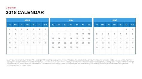 powerpoint calendar template 2018 calendar powerpoint and keynote template slidebazaar