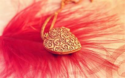 Feather Heart Wallpapers Jewelry Pendant Colorful Gifts