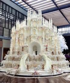 most expensive wedding cake are these the most elaborate wedding cakes of all time daily mail