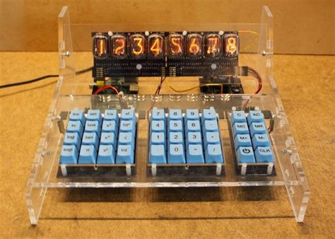 raspberry pi powered nixie tube calculator hits