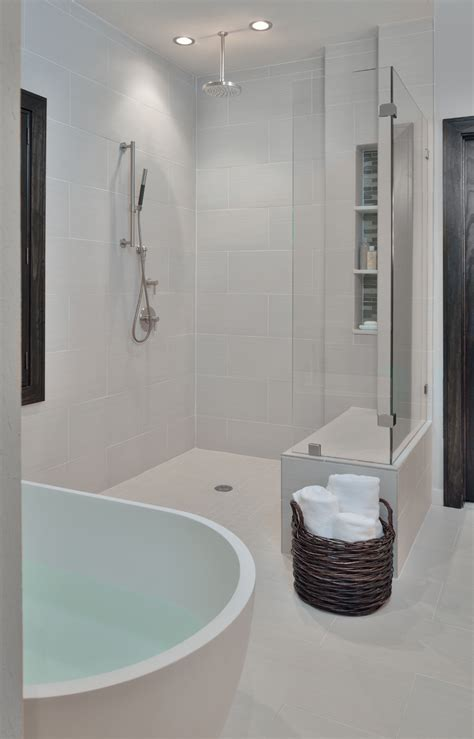 and in shower before after a traditional builder grade bathroom is