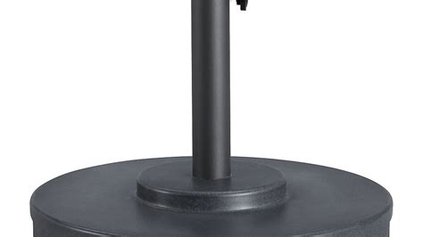 charcoal finish outdoor patio umbrella stand crate and