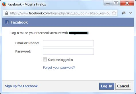 Facebook Login Ok But Cannot Connect To App