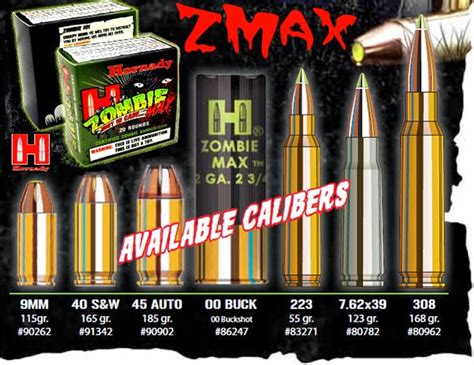zombie ammo hornady max ammunition bullets gun brands 308 guns gimmick gauge zombies ballistics apocalypse case marketing fad innovation hackles