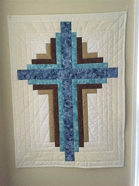 projects  small log cabin cross wallhanging bluprint