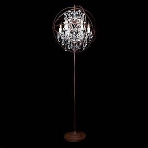 timothy oulton gyro crystal floor lamp antique rust With gyro chandelier floor lamp