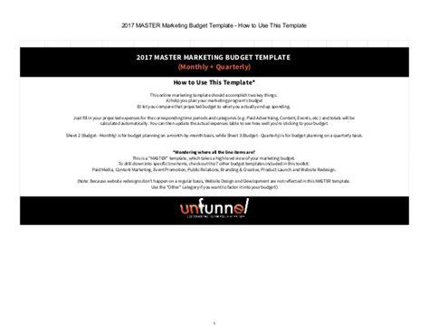 master marketing 2017 master marketing budget excel template