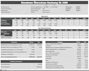 Einnahmen überschuss Rechnung Beispiel : numbers vorlage einnahmen berschuss rechnung 2009 mit ust ~ Themetempest.com Abrechnung