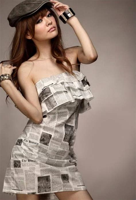 creative newspaper craft fashion ideas styletic
