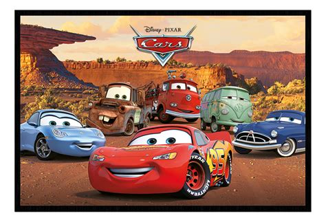 Framed Disney Pixar Cars Characters Poster New