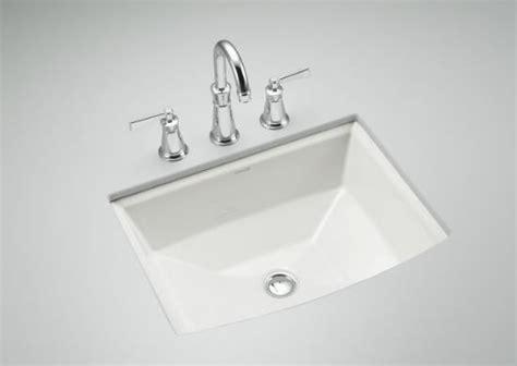 Kohler Archer Rectangular Undermount Sink by Kohler Archer Mount Bathroom Sink Traditional