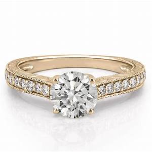 Engraved Engagement Ring Engraved Diamond Ring Do Amore
