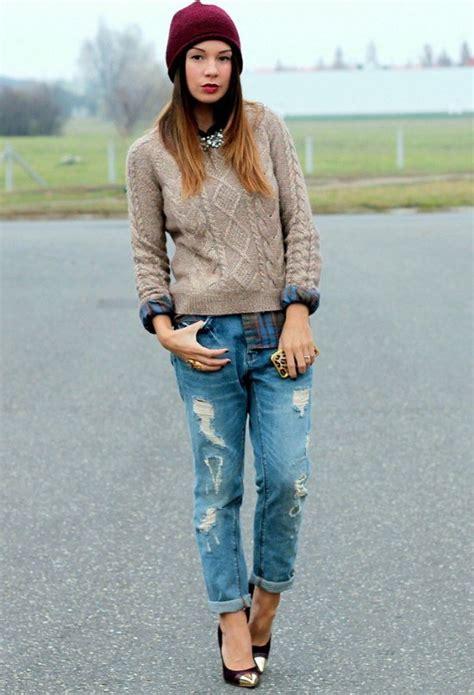 Coquetas Combinaciones de Outfits con Jeans para este Invierno   AquiModa.com