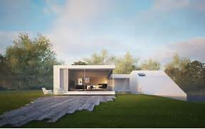 Minimalist One Storey House With Modern Art Minimalist Architecture That Has White Exterior Wall That Can Be Decor