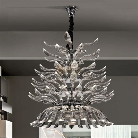 suspension ilot cuisine magnifique lustre suspension design moderne cristal palmeira