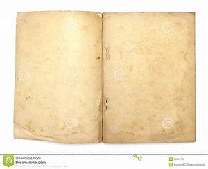 Old Book With Blank Yellow Stained Pages Stock Image ...