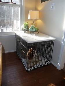 large crate topper black white or primed With turn dog crate into table